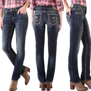 Silver Jeans • Suki High Straight Jeans • Sz 27